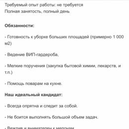 Домработница/Горничная